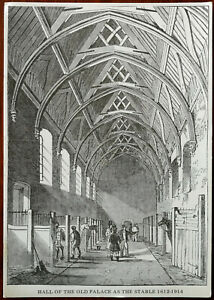 Hall of the Old Palace as the Stables 1612 – 1914 Miniature Print