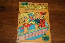1940'S Tippy Toy #3 Musical Evening Cardboard Punchout Toy in Original Envelope