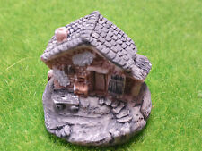 Miniatures Little Rustic Country Cottage with Stone Steps Shingled Roof Chimney