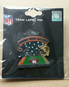 NEW ORLEANS SAINTS vs CHICAGO BEARS GAME DAY PIN 12/15/2014 BRAND NEW PIN