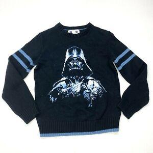 GAP Kids Star Wars Darth Vader Wool Sweater Sz L 10 Boys Black Blue Crewneck