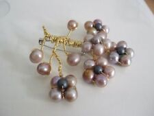 Pearl Copper Costume Brooches & Pins