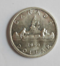 1959 Canadian Silver dollar AU-50 condition