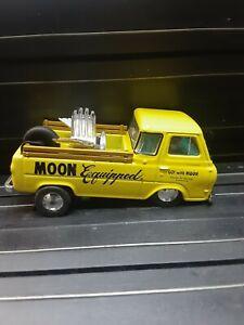 OOAK Mooneyes 1964 Ford 'LIL YELLA WAGON' Die Cast Slot car conv Rear Engine