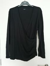GAP Black Breastfeeding Maternity Pregnancy Nursing V-Neck wrap top size XL