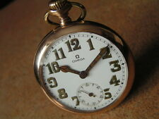 Antique Military Officer OMEGA Pocket Watch, A.L.D. MOON Case, British Army WW1