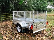 New 6x4 Paxton Caged Cage Galvanised Steel Car Utility Trailer