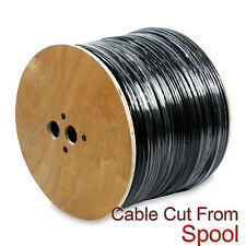 Outdoor Direct Burial Uv Rated Cctv Siamese Combo Cable Rg59 Coax Etl 50Ft