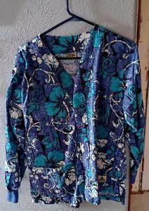Ladies Green Scrubs BRAND medical nursing scrub jacket cooler Sz med pre-owned
