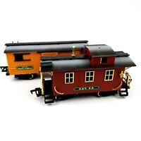 New Bright railroad Denver Express Caboose & Box Car  DW RR