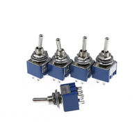 5PCS 6P Toggle Switch 6A 125VAC 6 Pin DPDT ON-ON Mini Toggle Switch New  huG0HTR