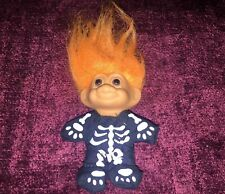 SKELETON TROLL Russ HALLOWEEN  ORANGE HAIR Bones Skull Bones