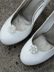 Shoe Clips,  Pearl Rhinestone Wedding Accessories,  Clip Ons For Shoes
