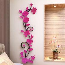 3D Flower Decal Vinyl Decor Art Removable Mural Home Living Room Wall Sticker