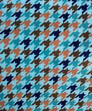 "DOG TOOTH print 100% cotton Fabric 45 ""wide sold/PER METRE/"