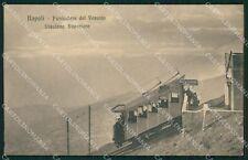 Napoli Città Funicolare al Vesuvio Stazione Superiore cartolina KF2192