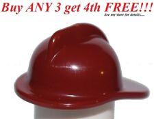 ☀️NEW Lego City Boy/Girl Minifig Hat Dark Red Fire Fighter Fireman Helmet
