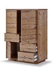 Highboard, Kommode Fichte, Schrank mit Schubladen, Fichte, 3 Türen, 3 Schubladen