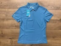 NIVO Womens Naomi Short Sleeve 1/4 Zip Golf Polo Cool Blue Ladies SZ Small NWT!