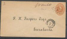 N.I.ENV.10 CT.,PUNTST.2 SEMARANG 28/8 1889-SOERAKARTA, AS. EN BESTELLER 2. Ac201
