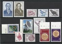 Iceland mixed Mint Never Hinged Stamps incl. Birds, shells, etc ref R 16352