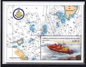FSAT/TAAF 340 MNH 2004 Hydrological Surveys - Adélie Land Map Souvenir Sheet