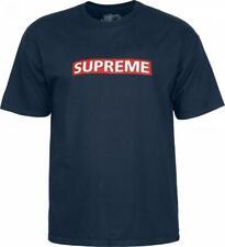 Powell Peralta Supreme Skateboard T-Shirt Navy Medium
