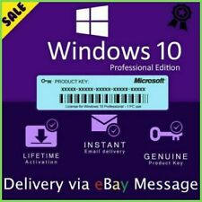 Windows 10 Pro Professional 32/64bit Activation License Key - Instant Delivery
