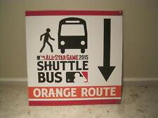 2015 Baseball ALL-STAR GAME Sign Shuttle Bus Cincinnati Reds MLB
