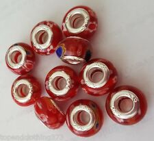 Lampwork Charms Jewelry Fashion European Beads x10