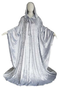 Robe with Hood Sleeves Fashion Costume UNLINED // Fantasy Cosplay Cloak Cape XL