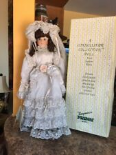 "Connoisseur Collection Seymour Mann Porcelain Doll 20"" Abigal bride musical box"