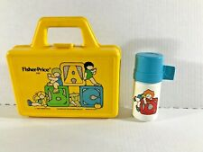 GREAT Vintage Fisher Price Quaker1979 ABC school lunchbox w/ thermos #638 yellow