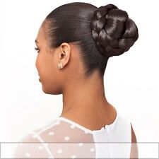 Foxy Lady Synthetic Hair Bun Princess Dome Hairpiece Color Black or Brown