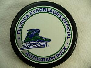 ECHL Florida Everblades Autograph Series Team Logo Hockey Puck Collect Pucks