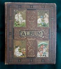 More details for 1890s victorian scrap album, scraps, birthday, christmas, new year cards fashion