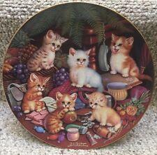 Bradford Exchange Cat Plate-My Favorite Things-4th Amewsing Adventures-J Scholz