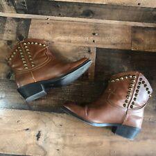 Women's Rock & Republic Boots Brown Spike Studded RR Billie Cognac Shoes Size 6M