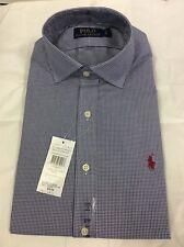 """Polo Ralph Lauren Custom Regent Vichy Homme Chemise à manches longues, taille 15""""/38 cm"""