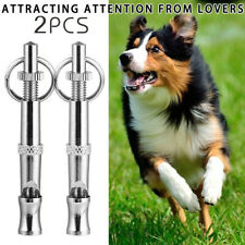 2pc Dog Training Whistle UltraSonic Obedience Stop Barking Pet Sound Pitch