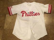 Majestic Philadelphia Phillies White Mesh Stitched Jersey Mens Large