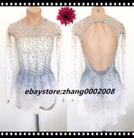 Ice skating dress.competition figure skating costume.baton twirling dance custom