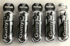 Lot of 5pcs Olive Black JVC Gumy HA-F150 In-Ear Earbud Stereo Wired Headphones