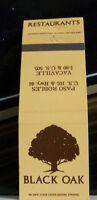 Rare Vintage Matchbook Cover K1 Vacaville California Black Oak Restaurants Tree