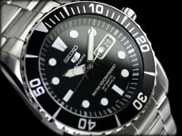 SEIKO 5 Submariner SNZF17 SNZF17K1 100m WR Hardlex Crystal !