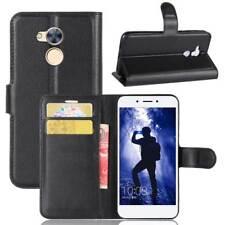 Custodia Luxury Libro Portafogli per Huawei Honor 6a Flip Cover Supporto Nera