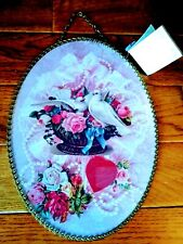 Gallery Graphics Vintage Flue Cover Victorian Art Roses Doves Pearls Lace Heart