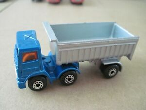 Matchbox Lesney Diecast No 30 Leyland Articulated Truck Blue / Silver 1980
