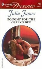 Bought ForThe Greek's Bed By Julia James~2007, Paperback, LIKE NEW Condition