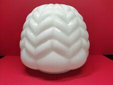 More details for art deco opaline white glass shade